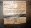 Philco 350 inside label
