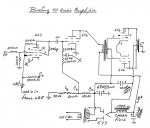 complete diagram of the audio amplifier