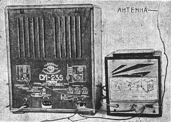 Converter's connection with SI-235 popular russian radio-reciever