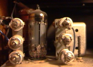 The tuning capacitors and the entrance tube