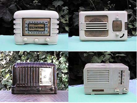 Catalin and Plaskon old radios